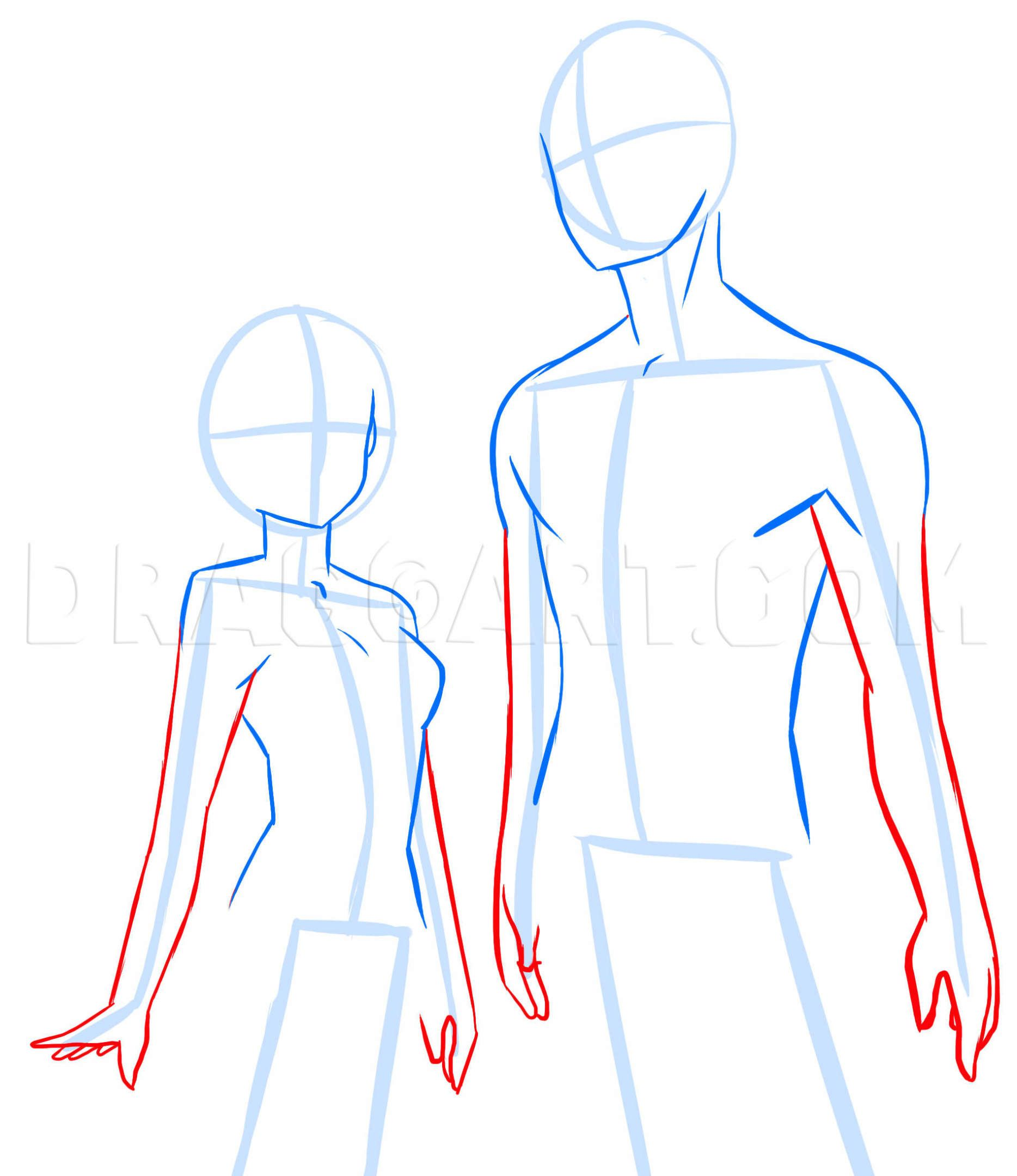 How To Draw Anime Anatomy Step By Step Anatomy People Free Online Drawing Tutorial Added By Puzzlepieces Jan Guided Drawing Drawing Tutorial Drawing Tips