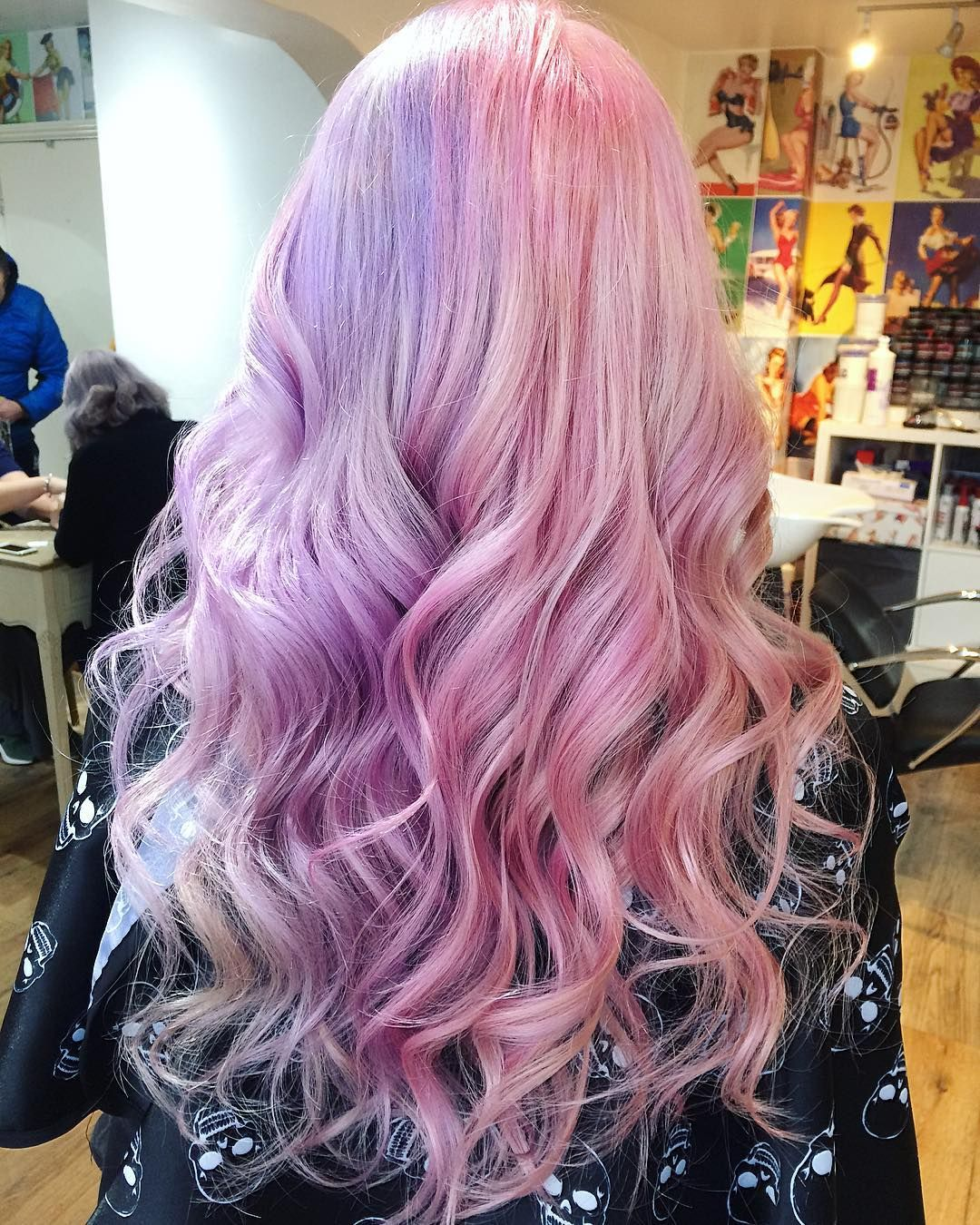 Candy Floss Coloured With Manicpanicnyc Manicpanic Official Manicpanic Uk Halfandhalfhair Pretty Sal Pink Ombre Hair Half And Half Hair Color Your Hair