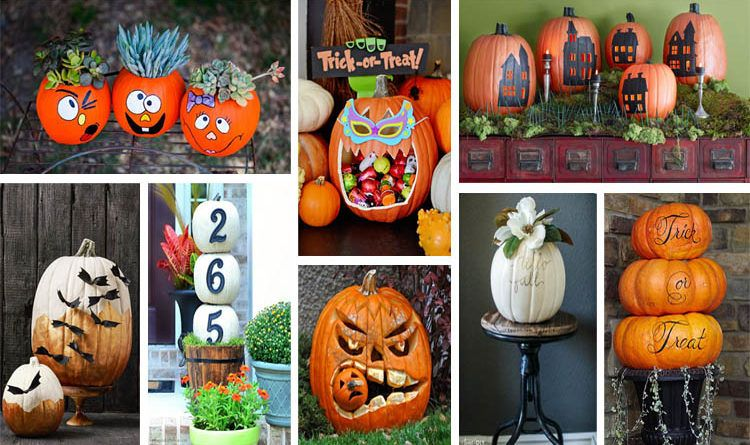 20 Cool Ways to Decorate Your Halloween Pumpkins Decorating and