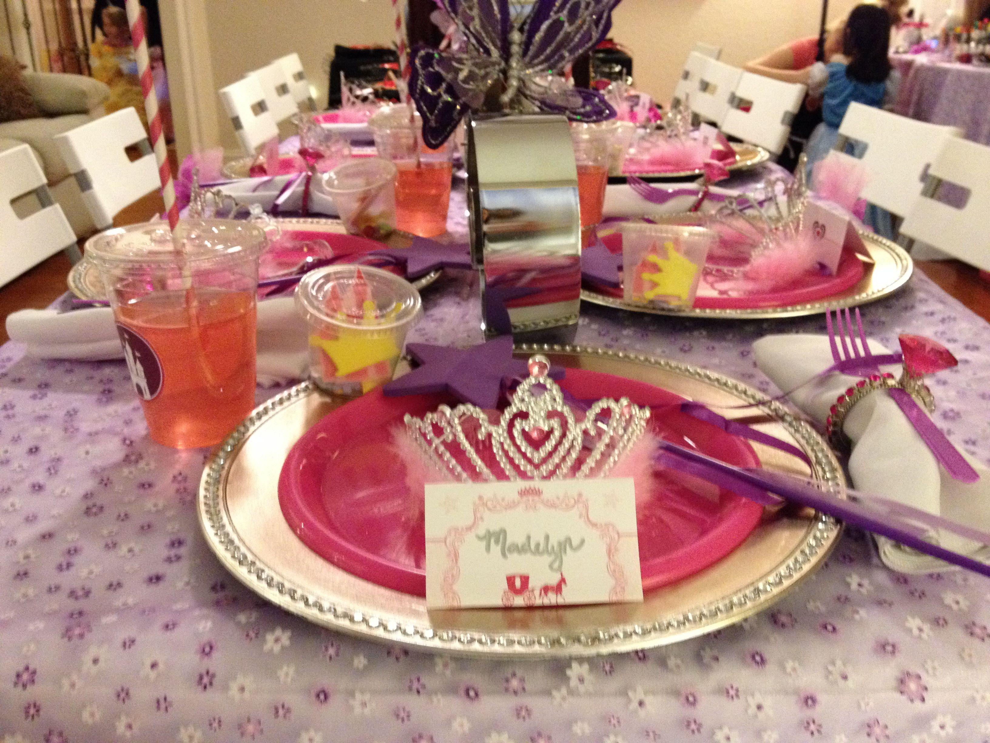 Royal Princess table setting! | The Royal Princess Party ...