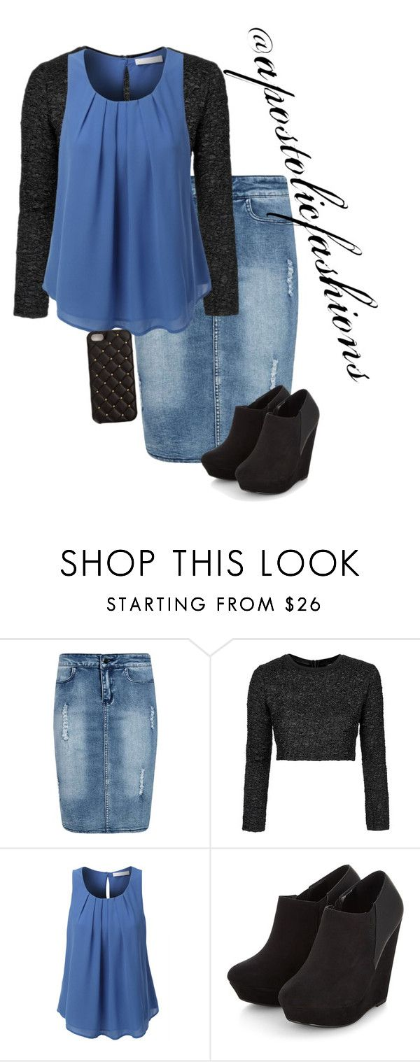 """Apostolic Fashions #1416"" by apostolicfashions on Polyvore featuring Boohoo, Topshop, LE3NO and 2Me Style"