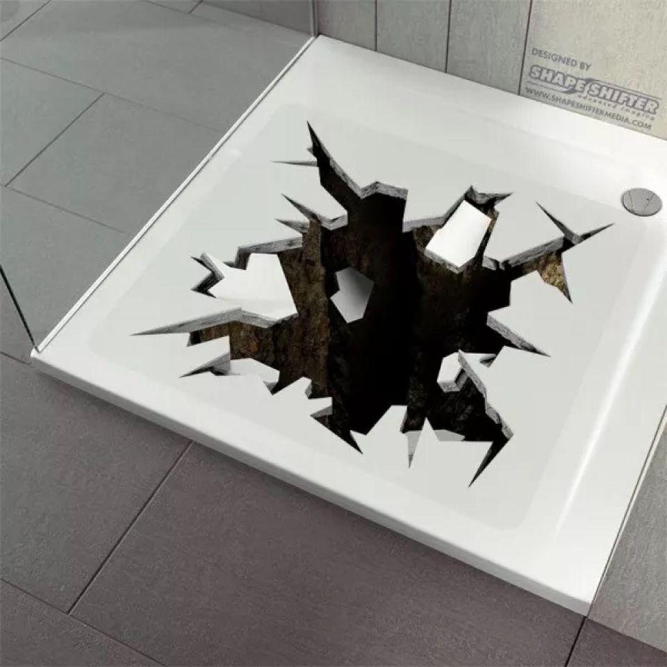 Anti Rutsch Dusche Badewanneneinlage Duschmatte Duscheinlage 3d Loch Real Ebay Graffiti Batman