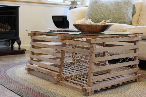 Pleasant Rustic Maine Lobster Trap Coffee Table By Chip Howarth Andrewgaddart Wooden Chair Designs For Living Room Andrewgaddartcom