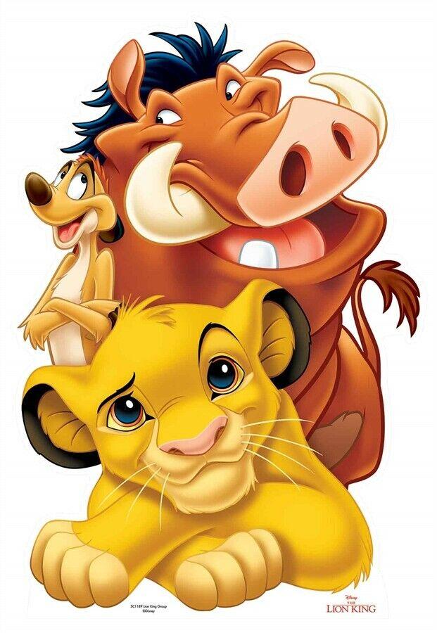 Poster A3 El Rey Leon Simba Timon Pumba The Lion King Pelicula Film Cartel 01