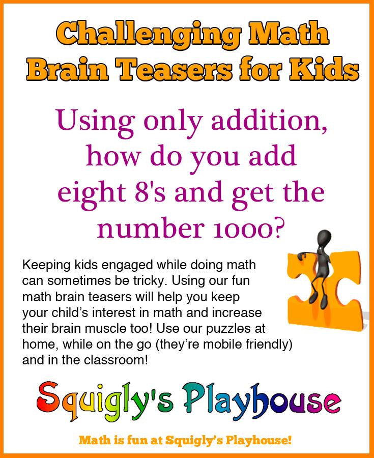 50+ Math Brain Teasers for Kids Brain teasers for kids