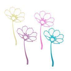 Aluminum Cosmos Flower Bookmark