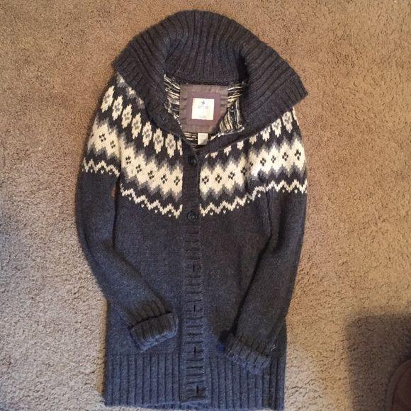 Aerie fair isle tunic cardigan Tunic length, size small, good ...