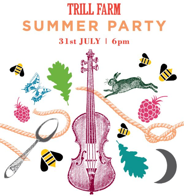 Trill Farm Summer Party 31 July. Summer menu by Chris Onions http://www.organicholidays.com/at/2808.htm