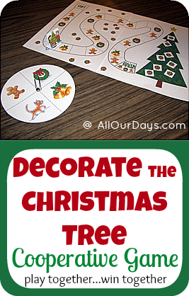 Decorate the Christmas Tree Free Cooperative Game Printable | Cooperative games, Christmas ...