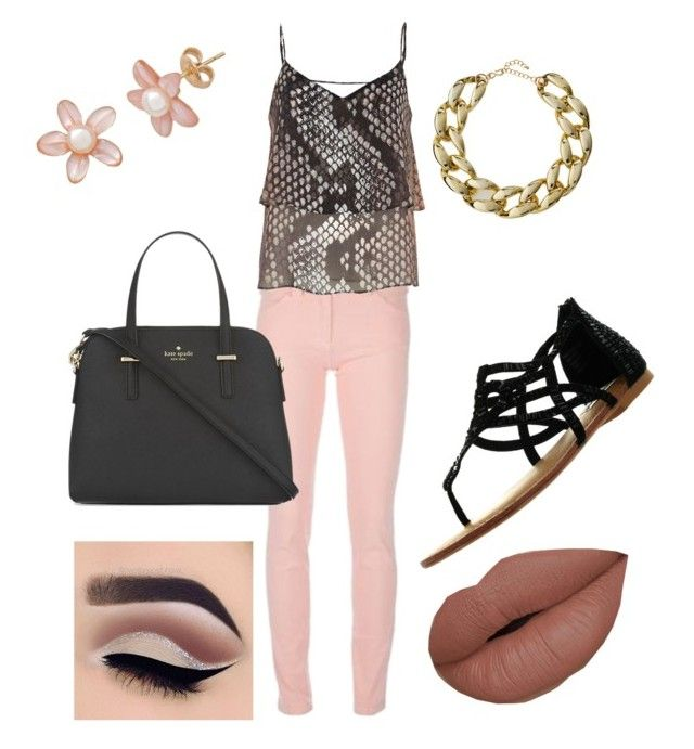 """""""Untitled #4"""" by elizabeth-von-keller on Polyvore featuring Balenciaga, River Island, Not Rated, Kate Spade and Kenneth Jay Lane"""