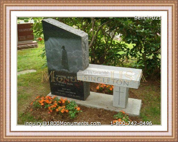 Park Bench Headstone Cemetery Headstones Headstones Cemetery Monuments