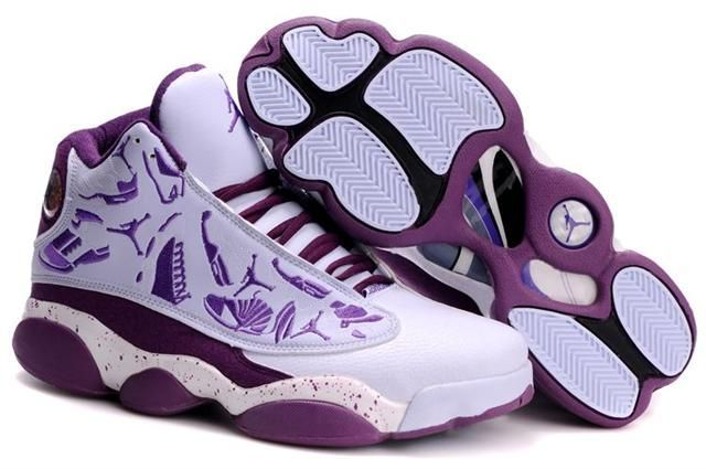 0540edcd5ed9be Only AIR  JORDAN 13 EMBROIDERY WHITE ORCHID PURPLE Free Shipping!