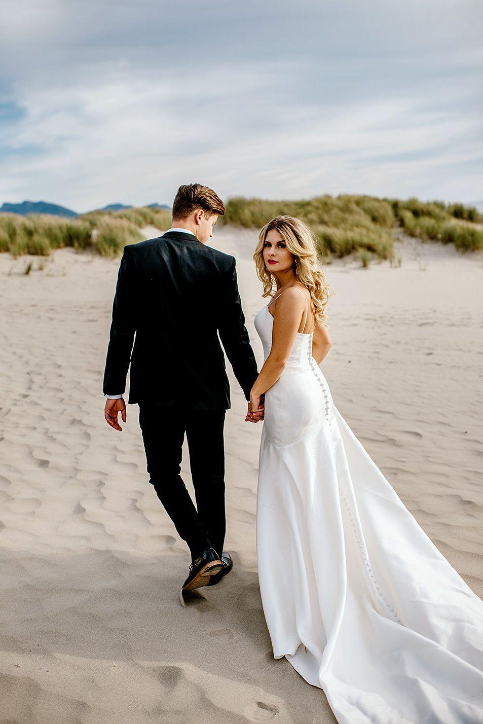 Ecola State Park Post Wedding Adventure Jan Tim Karina Maks Portland Wedding Photographer Beach Wedding Pics Wedding Photos Poses Beach Wedding Photography
