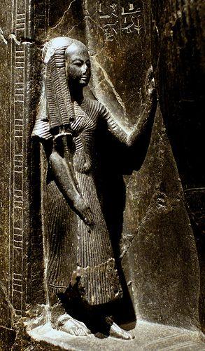 Torino, Museo Egizio, Pharao Ramses II. mit der blauen Krone, Detail mit Königin Nefertari (Pharaoh Ramesses II. with the blue crown, detail showing Queen Nefertari) | by HEN-Magonza