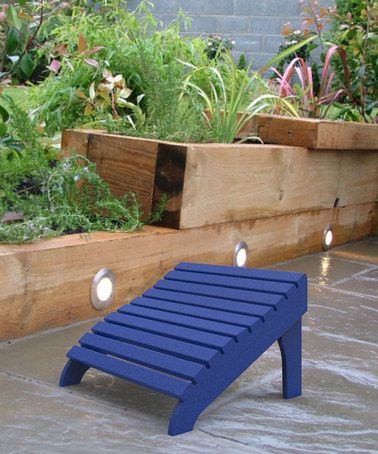 Take a look at this Blue Contour Footstool by Malibu Outdoor Living on #zulily today!