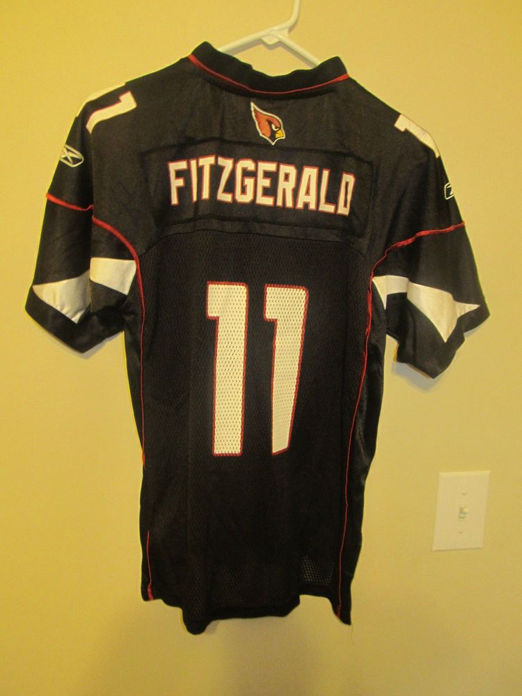 c57db6456aae Larry Fitzgerald - Arizona Cardinals Black jersey - Reebok youth Large   Reebok  ArizonaCardinals