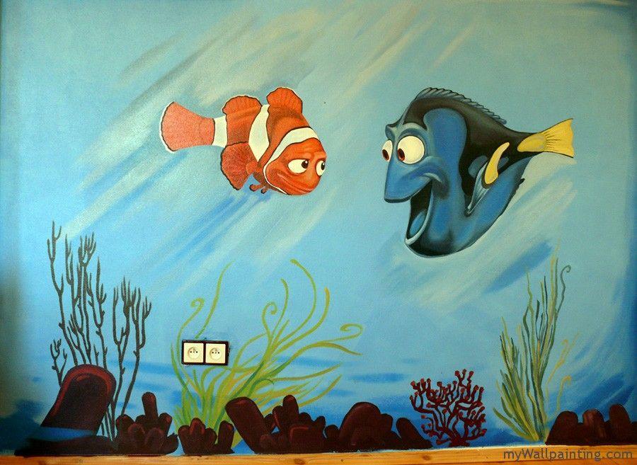 Cool Finding Nemo wall mural. @Dan Kroening