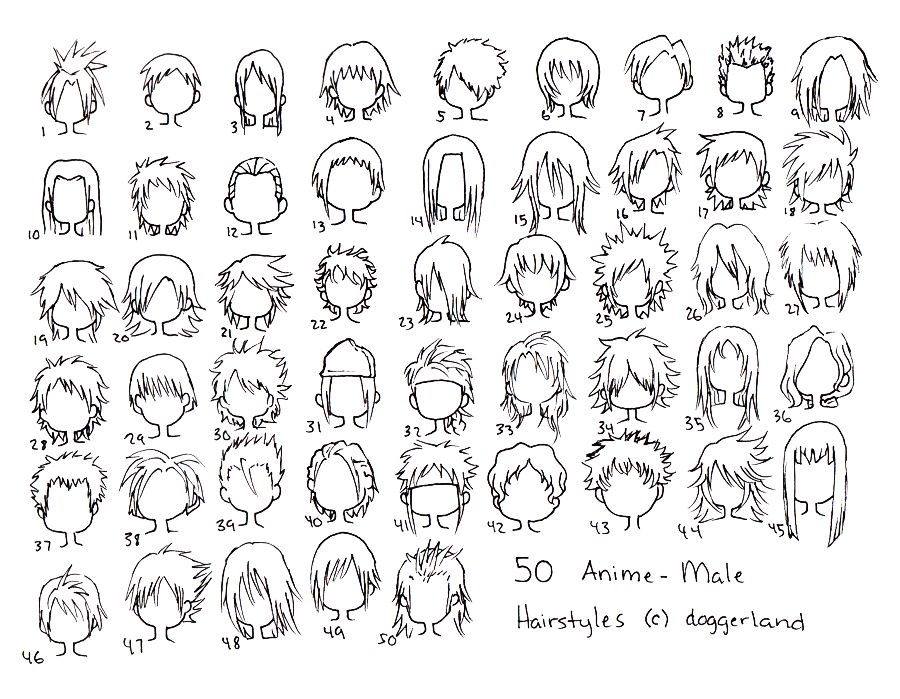 Anime Male Hair Anime Boy Hair Anime Hairstyles Male Manga Hair