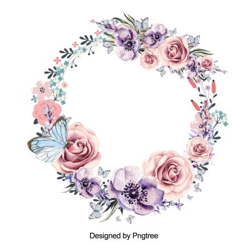 Wreath Png Vector Psd And Clipart With Transparent Background For Free Download Pngtree Floral Border Design Flower Clipart Wreath Drawing
