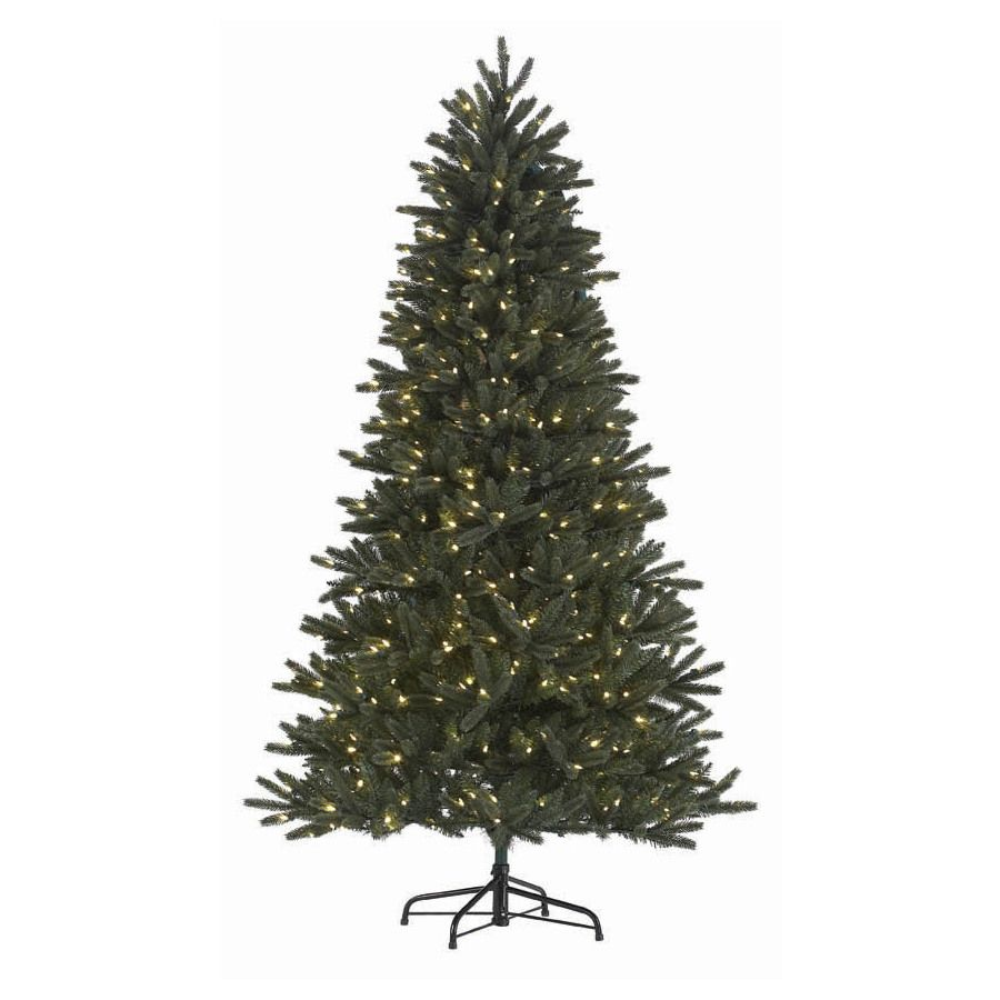 2 Ft White Christmas Tree: Shop Holiday Living 7-1/2-ft Englewood Pine Pre-lit One