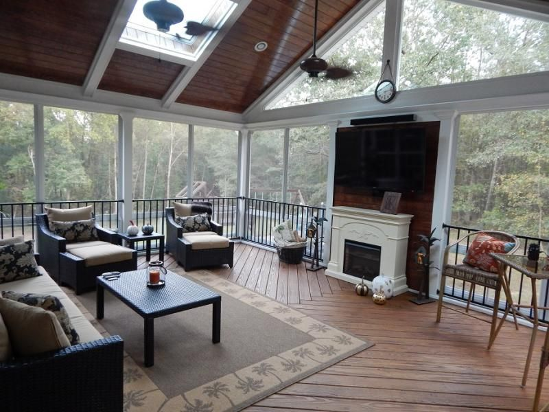 Raleigh Screen Porch Privacy Wall Screened Porch Porch Porch Builders