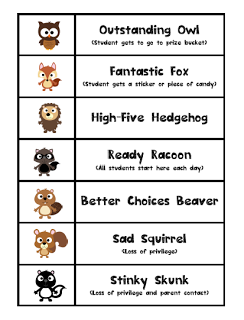 Pre K Paparazzi Owl Theme Behavior Chart And My First Post