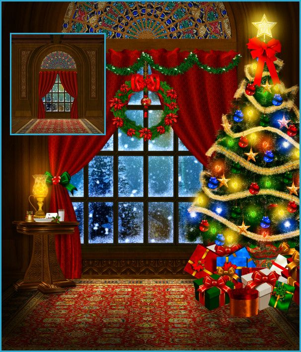 Christmas Fireplace Scene Clipart.Beautiful Christmas Background Scenes And Christmastubes