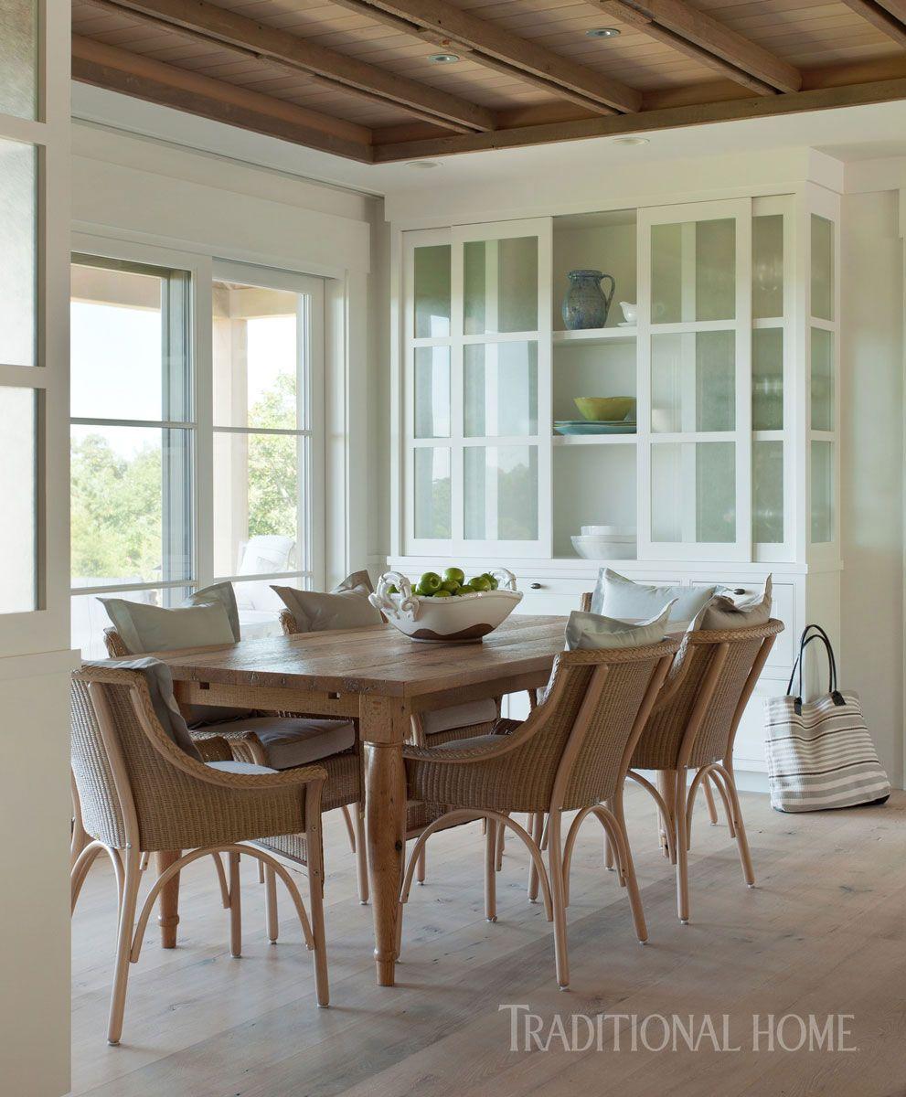 Marthas Vineyard Interior Design, Vineyard Dining Room Furniture