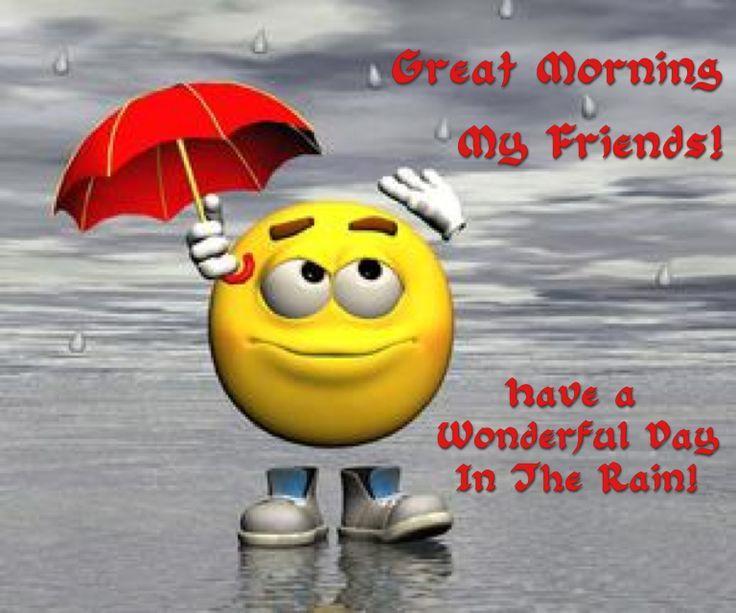 Goodmorningrainydayimages Smileys Face Rainy Day Funny