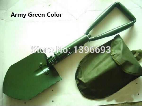 MIDDLE Folding Multifunctional Shovel Outdoor Camping Shovel Mini Survival Trowel Tools with Snow Spade Pick Saw Compass