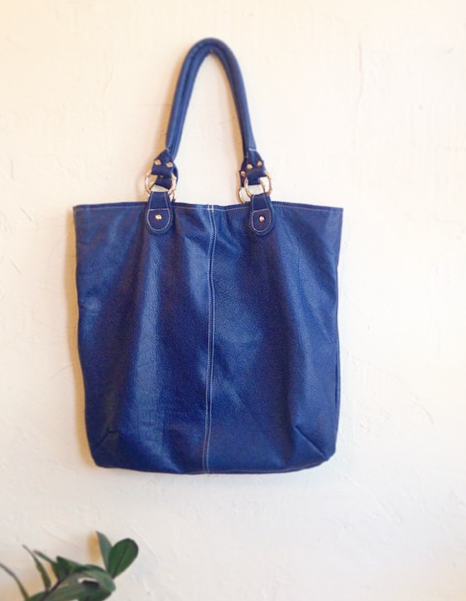 Blue Tote by Stitch and Swash - Available at Velouria