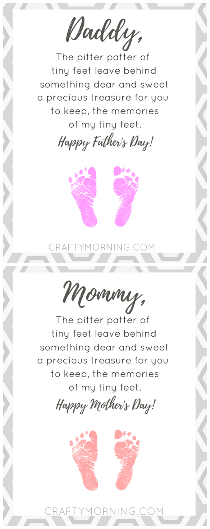 pitter patter of tiny feet printable poem footprints poem and dads