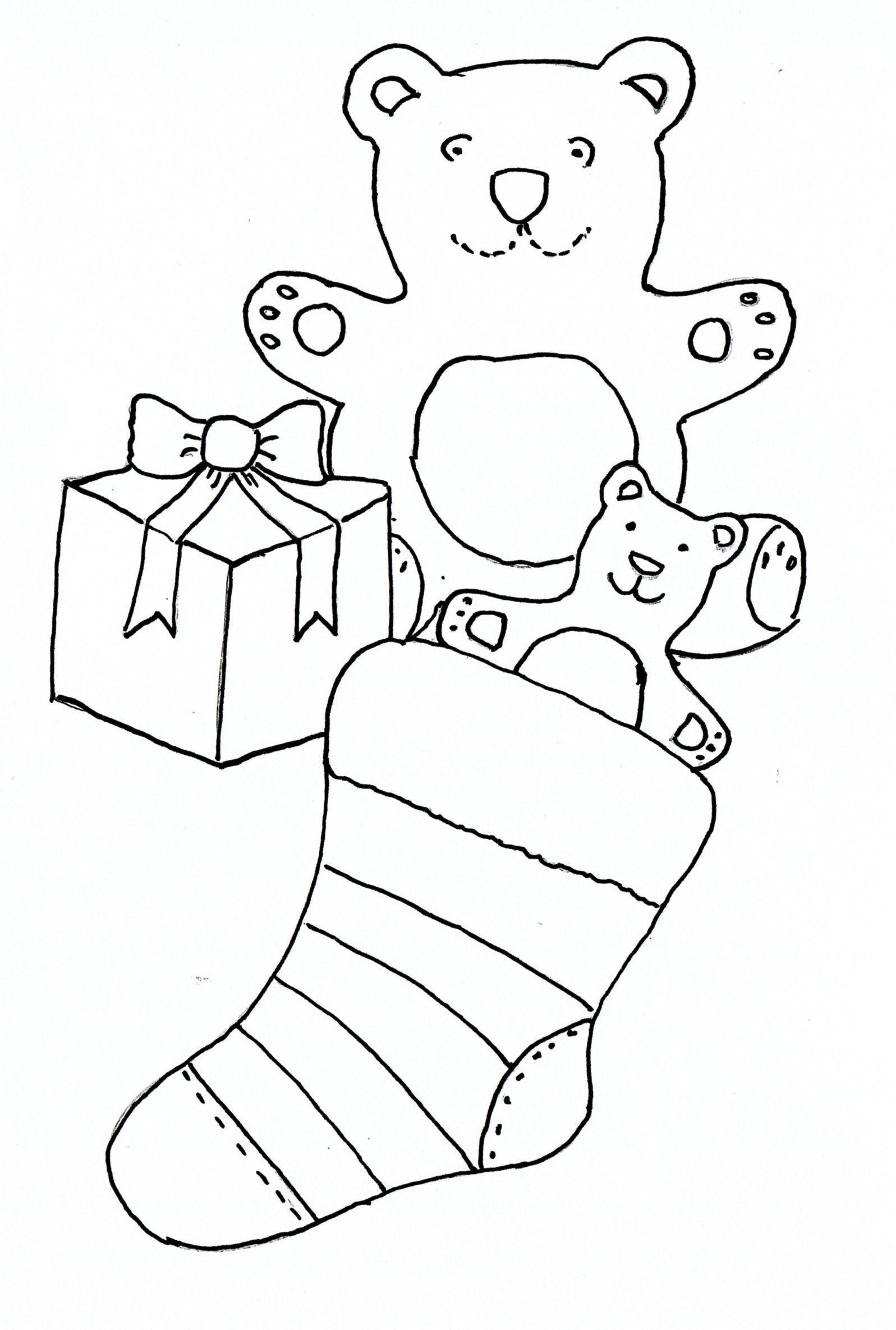 Christmas Stocking Drawing templates, Drawing for kids