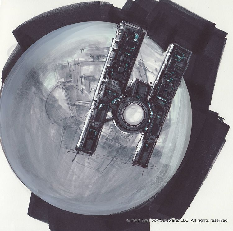Borderlands 2 - Hyperion Moon Station — Lorin Wood Design