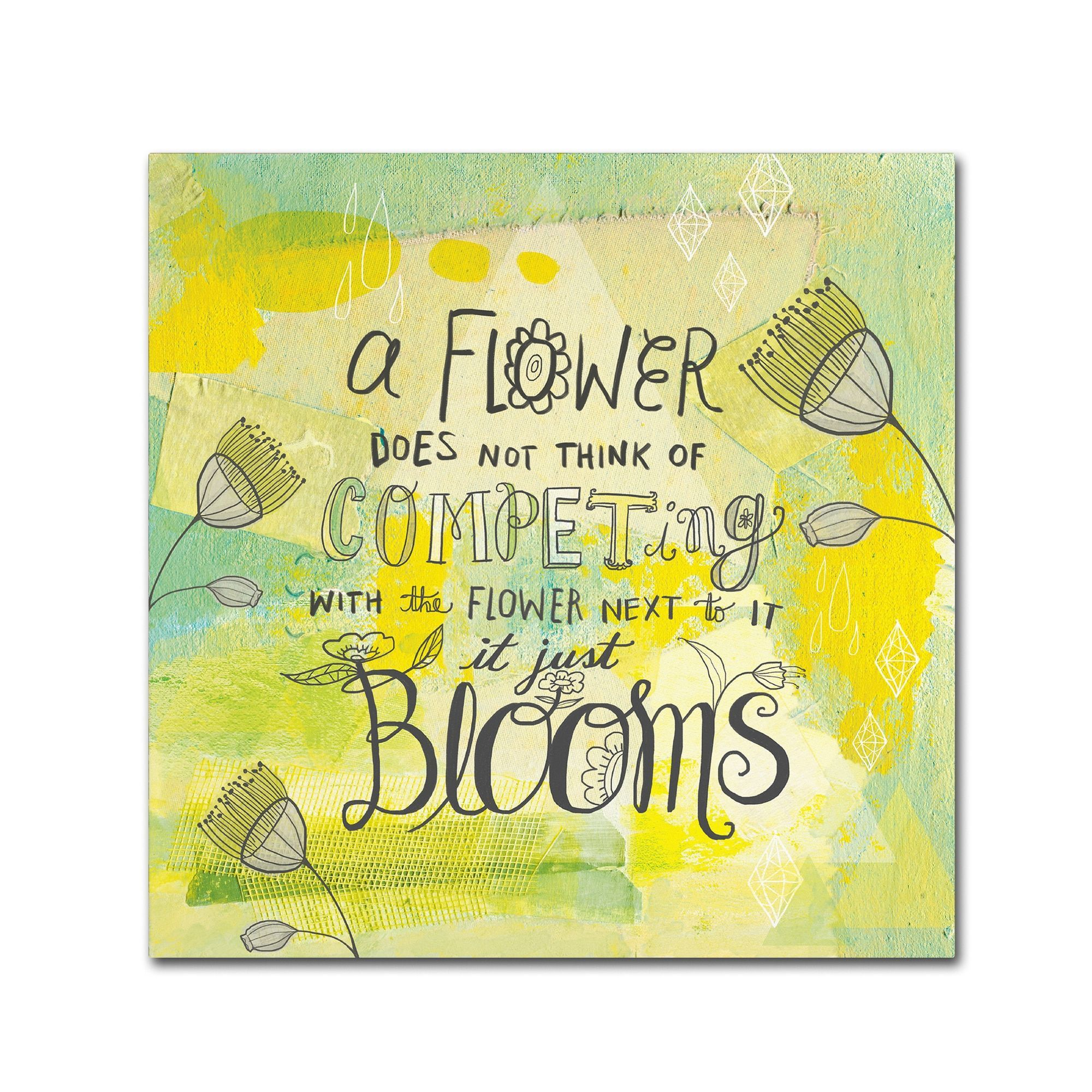 Elizabeth Caldwell \'Blooms Quote\' Canvas Art | Products | Pinterest ...