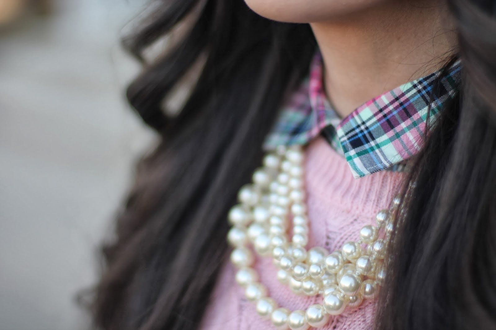 Shirt+sweater+necklace=fall/spring perfection!