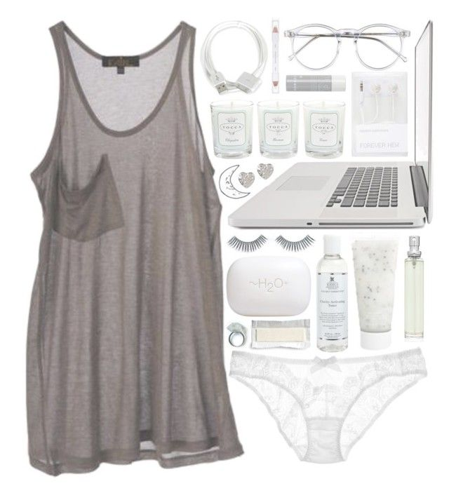 ❀ i don't wanna think about the morning by ashlynnmarlo on Polyvore featuring polyvore fashion style Kain L'Agent By Agent Provocateur 1&20 Blackbirds Wildfox Napoleon Perdis shu uemura Smashbox Kiehl's H2O+ Korres Tocca Forever New clothing