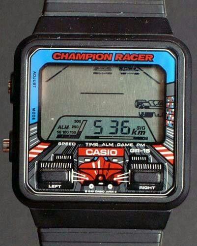 fd06ef1d3a58 Juego de carreras de coches en reloj Casio