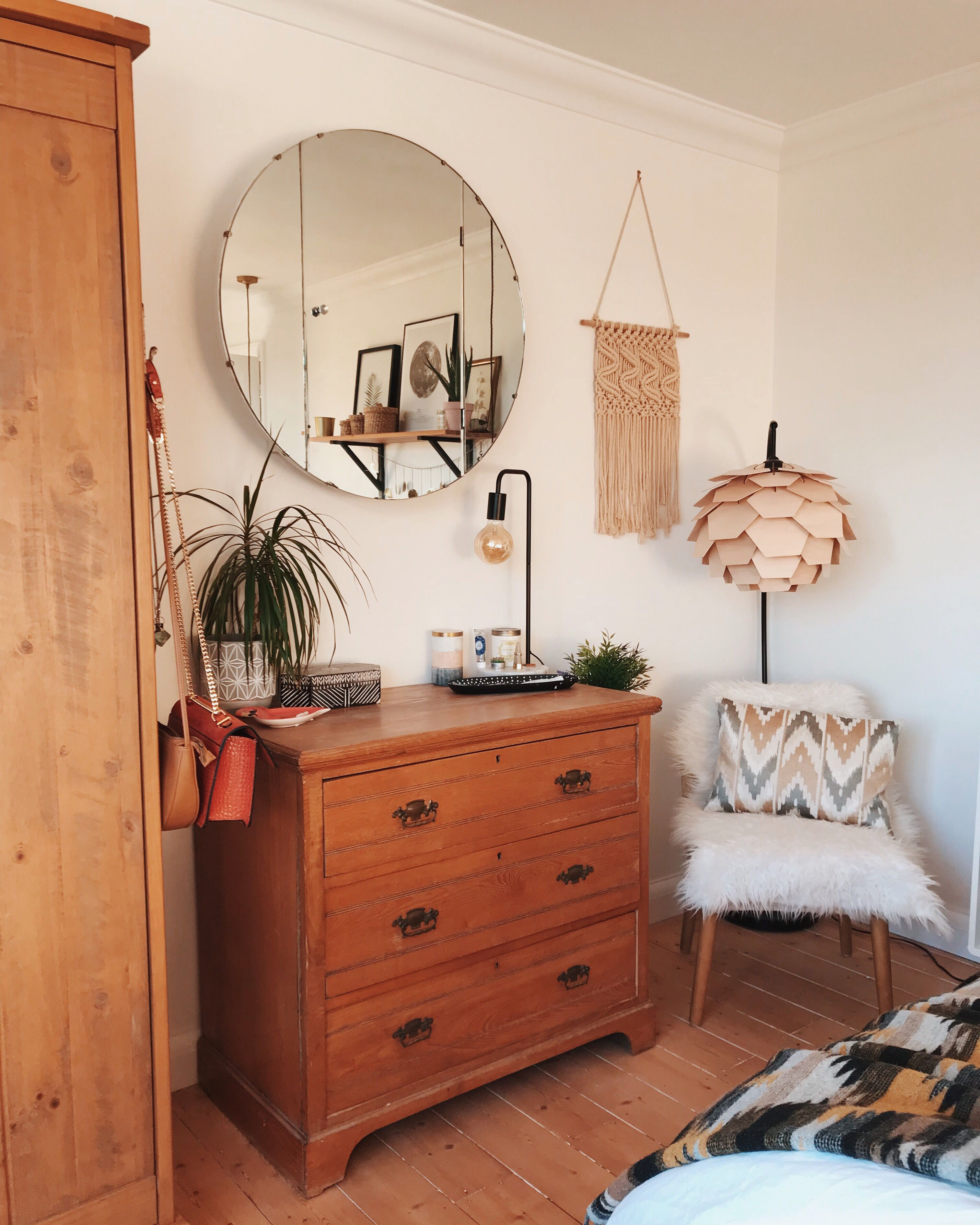 Photo of Thrifted bedroom furniture creates cosy Scandi vibe.