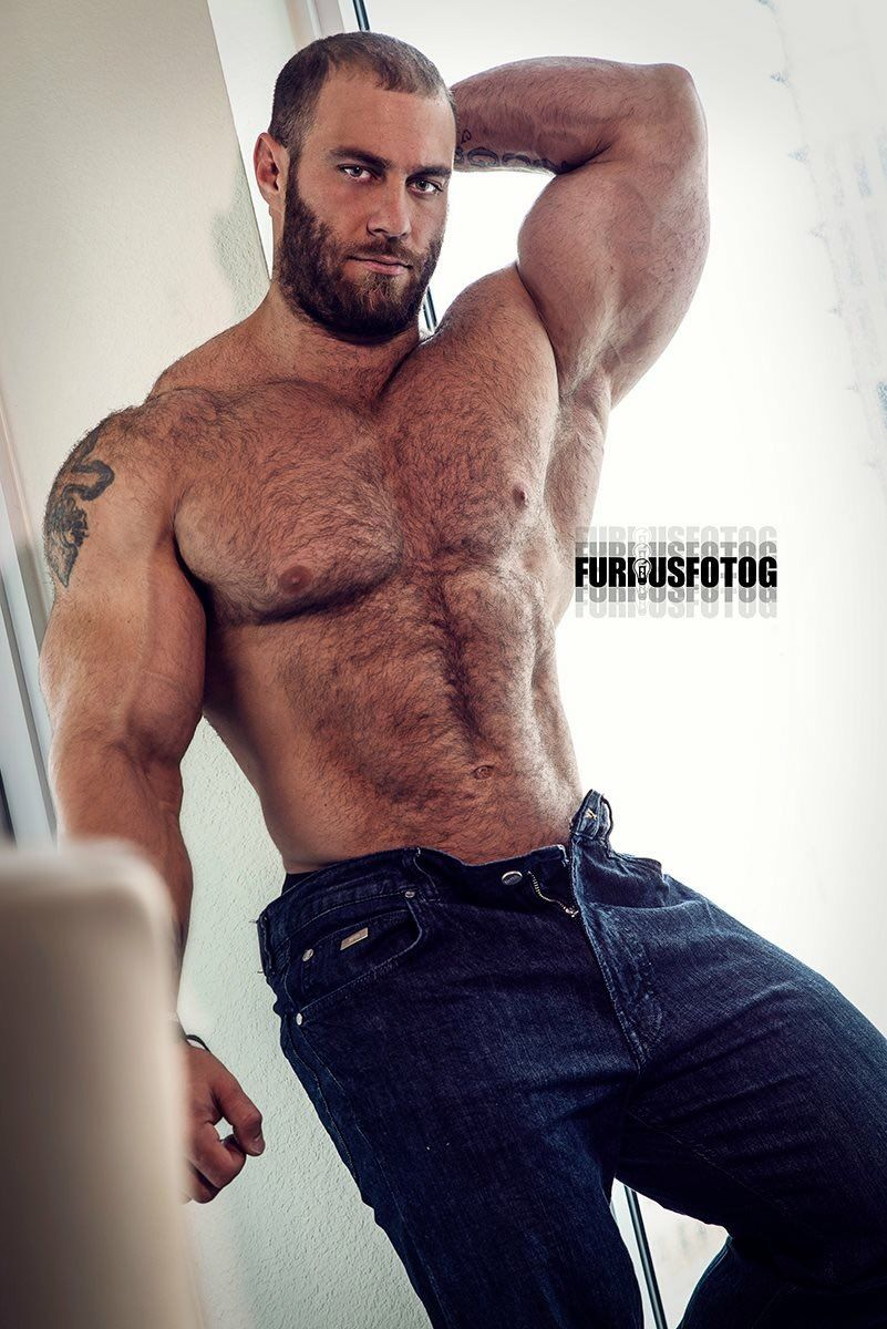 Hairy hunk man
