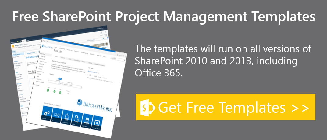 free sharepoint project management templates on sharepoint 2010 and sharepoint 2013 now available download from