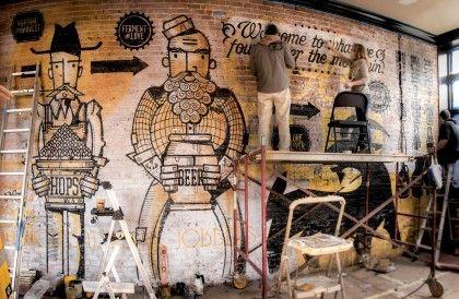 Halfcut Mural Process | HalfCut Cincinnati Beer by Neltner Small Batch