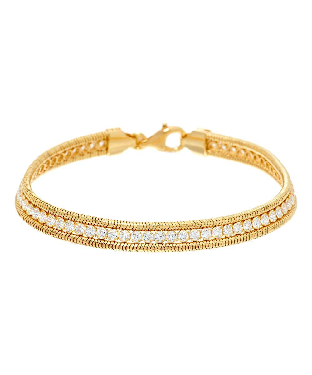 Diamonique u gold tennis bracelet products pinterest products