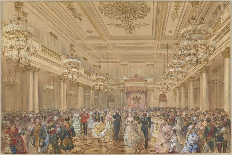 Ball At The Winter Palace St Petersburg 23 January 1874 Winter Palace St Petersburg Petersburg