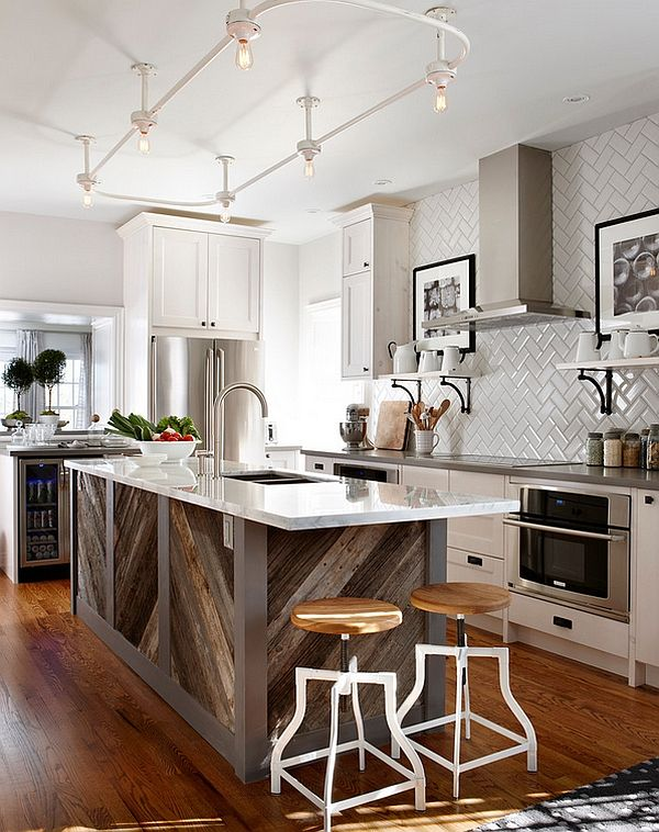 Zigzag Patterns In Kitchen Chevron And Herringbone Kitchen Remodel Kitchen Inspirations Kitchen Island Design