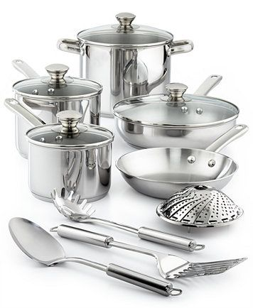 Stainless Steel 13 Pc Cookware Set Created For Macy S