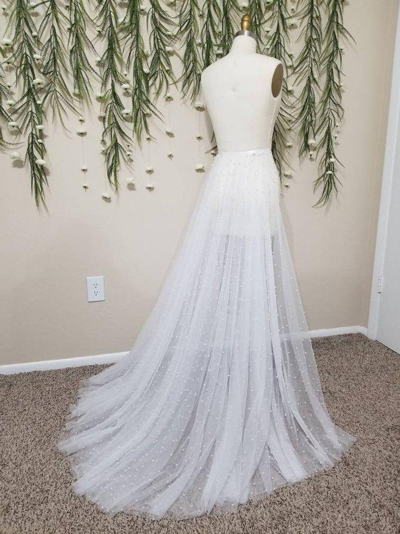 White Pearl Netting Detachable Wedding Bridal Train Wedding Etsy Wedding Dress Train Designer Wedding Dresses White Bridal