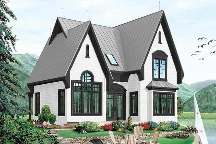 Narrow Lot House Plan 034