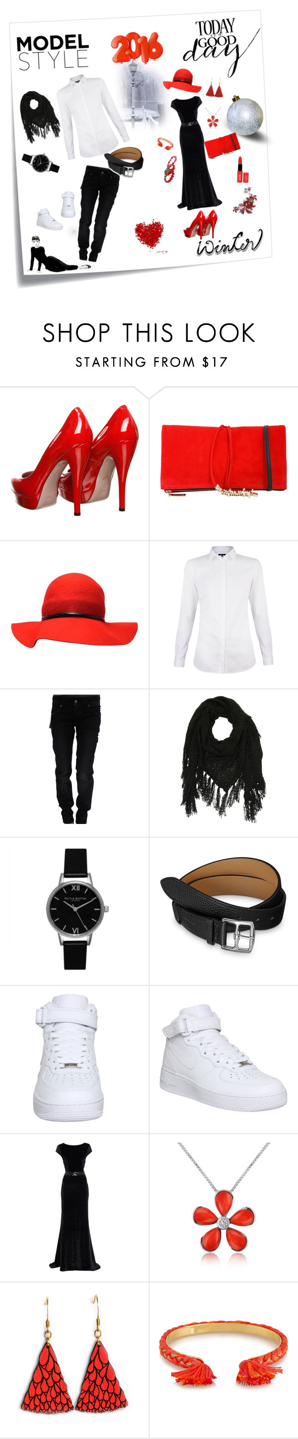 """Bez naslova #3"" by munja92 ❤ liked on Polyvore featuring Post-It, Gucci, Dsquared2, NYX, Galliano, Charlotte Russe, Olivia Burton, NIKE, Del Gatto and Aurélie Bidermann"