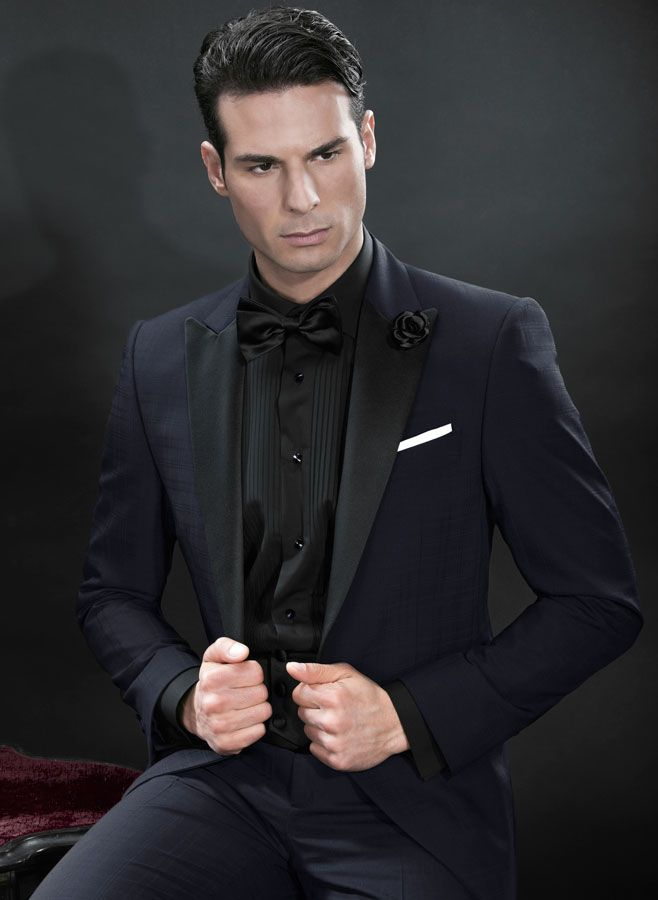 Black Suit Dark Blue Shirttuxedo Italian Formal Wear Model Bt ...